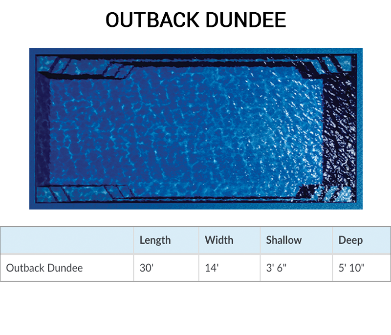 Outback Dundee Rectangle Fiberglass Pool by Barrier Reef