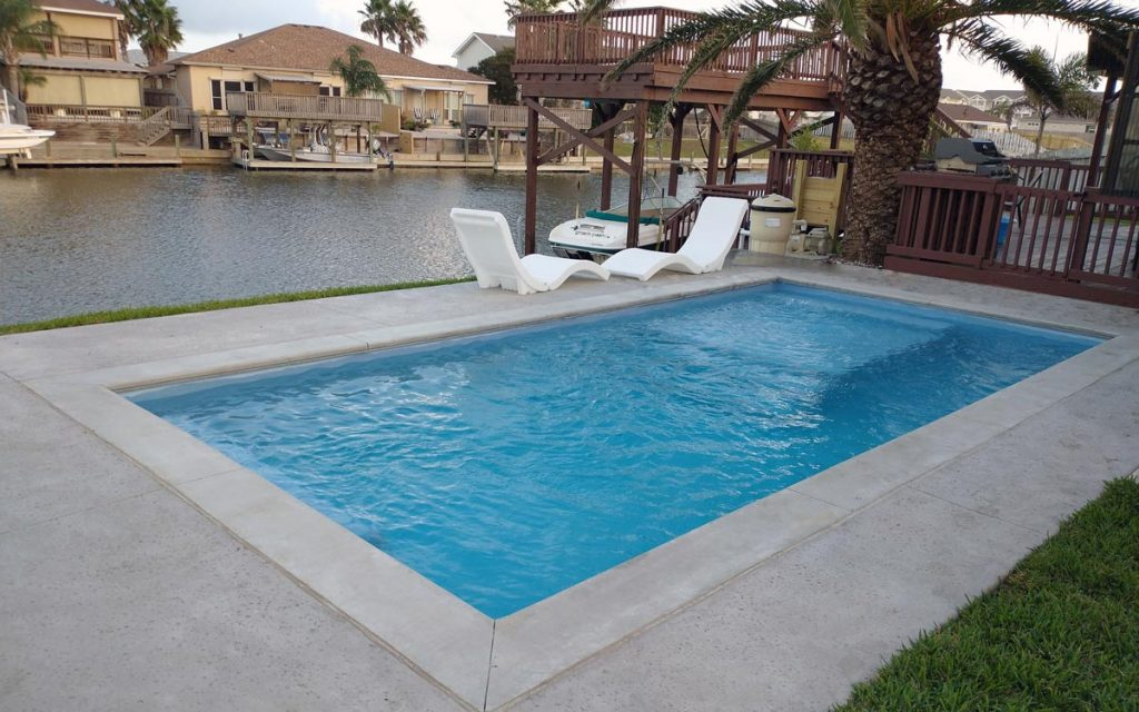 ICF Concrete Swimming Pool in Corpus Christi, Texas