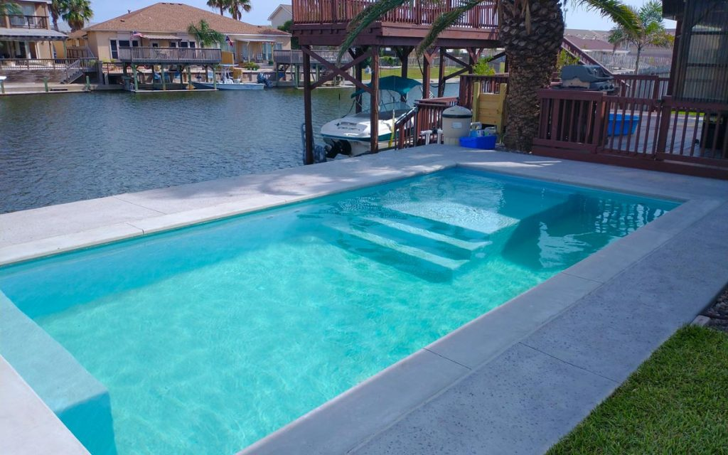 ICF Gunite Swimming Pool in Corpus Christi, Texas by Pools by DC Design